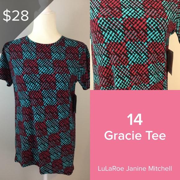 Lularoe Gracie Tee Size 14 Pink